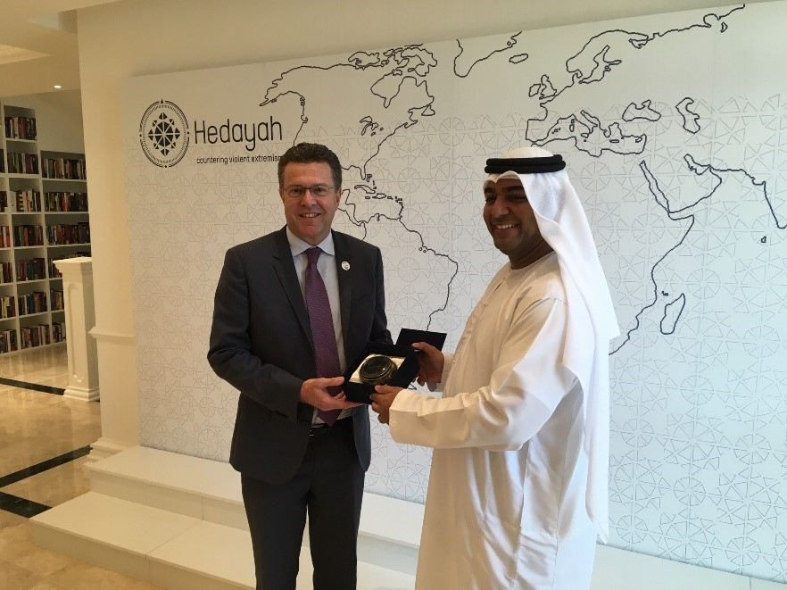 Meeting with cooperation partner institution Hedayah in Abu Dhabi